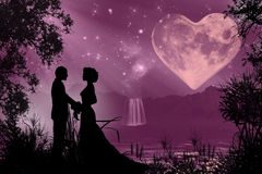 Valentine's day romantic atmosphere Stock Images