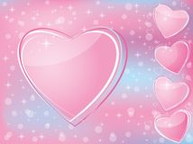 Valentine's Day romantic background w Stock Images