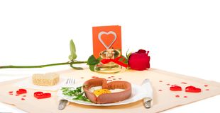 Valentine's Day. romantic dinner Royalty Free Stock Photography