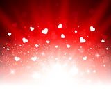 Valentine's day romantic vector background with hearts Stock Images