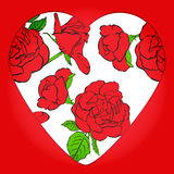 Valentine's Day. Roses and heart. Vector illustration. EPS 10 Royalty Free Stock Image