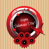 Valentine's Day rounded frame royalty free stock image