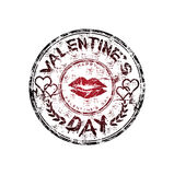 Valentine's Day rubber stamp Royalty Free Stock Photography