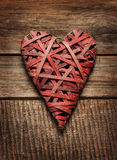 Valentine's Day rustic poster or postcard design Stock Photography
