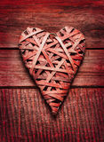 Valentine's Day rustic poster or postcard design Royalty Free Stock Images