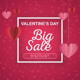 Valentine`s Day sale background. royalty free illustration