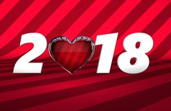 Valentine`s day sale banner vector illustration