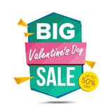 Valentine s Day Sale Banner Vector. Discount Banner. Sale Banner Tag. February 14 Online Sales Concept. Love Price Tag. Valentine s Day Sale Banner Vector Royalty Free Illustration