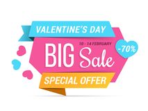 Valentine`s Day Sale Royalty Free Stock Image