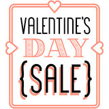 Valentine's day sale and discount vintage banner announcement.  Royalty Free Stock Photography
