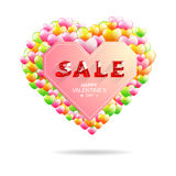 Valentine's day sale.font isometric style. Vector illustration Stock Photo
