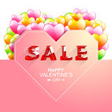 Valentine's day sale.letter isometric style. Royalty Free Stock Photo