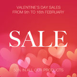 Valentine's Day sale Royalty Free Stock Images