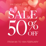 Valentine's Day sale Stock Images