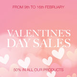 Valentine's Day sale Stock Photography