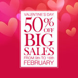 Valentine's Day sale Royalty Free Stock Image