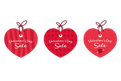 Valentine`s day sale offer, banner template. Red heart with lettering, isolated on white background. Valentines Heart sale tags. S Royalty Free Stock Image