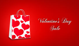 Valentine`s day sale. Valentine`s day photos and illustration Royalty Free Stock Image