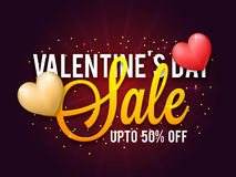 Valentine`s Day Sale Poster, Banner or Flyer. Stock Images