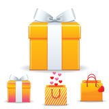 Valentine's day sale shopping bag Stock Photography