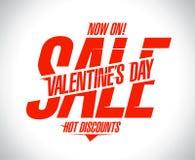 Valentine`s day sale text design. Concept Stock Images