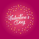 Valentine`s day sale text with gift. The banner can be used in mailings, magazine promotions. There is a place text Stock Image