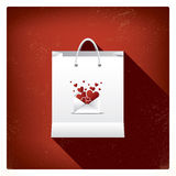 Valentine's day sales or shopping posters with Royalty Free Stock Images