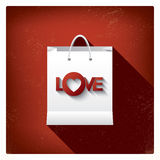 Valentine's day sales or shopping posters with Royalty Free Stock Image