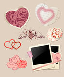 Valentine`s Day scrapbook Royalty Free Stock Images