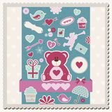 Valentine's Day scrapbook card Stock Images