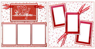 Free Valentine S Day Scrapbook Frame Template Stock Photography - 1120472