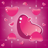Valentine's Day, seamless background Royalty Free Stock Photography