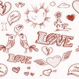 Valentine`s day seamless background Royalty Free Stock Photo