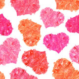 Valentine's day seamless background. Colorful watercolor hearts Stock Photography
