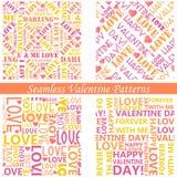Valentine's Day Seamless Background Stock Photos