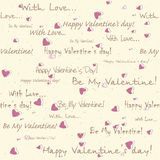 Valentine's day seamless pattern Royalty Free Stock Images