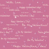 Valentine's day seamless pattern Stock Photo