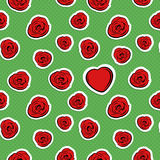 Valentine's Day Seamless Pattern Stock Images