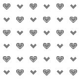 Valentine's Day seamless pattern Royalty Free Stock Image