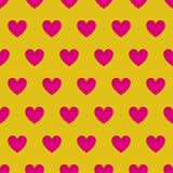 Valentine's Day seamless pattern with carved hearts Royalty Free Stock Photos