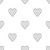 Valentine's Day seamless pattern with checkered hearts Royalty Free Stock Image