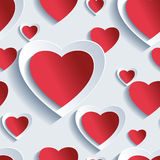 Valentine's Day seamless pattern, 3d hearts Royalty Free Stock Photos