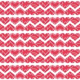 Valentine`s day seamless pattern with decorative broken hearts vector illustration