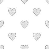Valentine's day seamless pattern with hearts Stock Photo