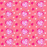 Valentine's day seamless, pattern. Royalty Free Stock Photos