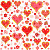 Valentine's day seamless, pattern Stock Photos