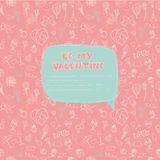 Valentine's Day seamless pattern with place for your text messag Stock Images
