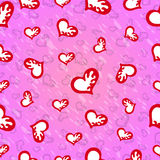 Valentines Day Seamless pattern of red hearts on a pink background  image Stock Image