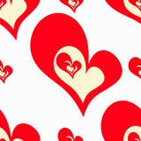 Valentine's Day Seamless pattern of red hearts Vector Royalty Free Stock Photo