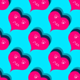 Valentine`s Day Seamless pattern of red hearts Vector Royalty Free Stock Images